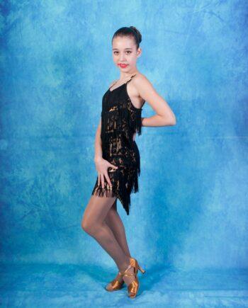 Платье Латина с бахромой