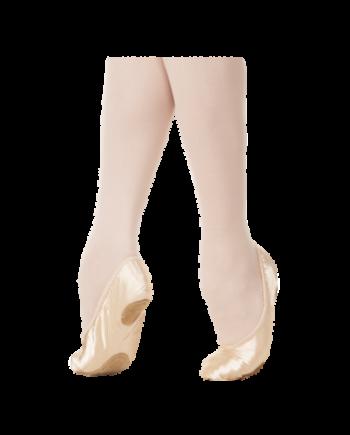 Балетки (МБО) мод. 1/2-Р с раздельной подошвой, атлас, эл.шнурок (арт. 03001/2)