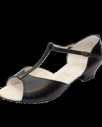 Бальные туфли для девочек «Латина» из кожи, каблук 3 см. мод. 3835/НК (арт. 03381НК)