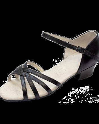 Бальные туфли для девочек «Латина» из кожи, каблук 3 см. мод. 3838/НК (арт. 03384НК)